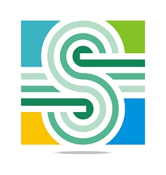 Logo abstract infinity line letter s corporation vector