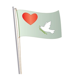 Love and peace flag vector