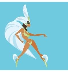 Flat geometric design of dancing samba queen vector