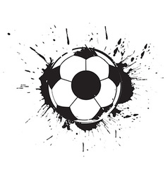 Abstract grunge football vector