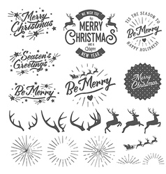 Christmas photo overlays and design elements vector
