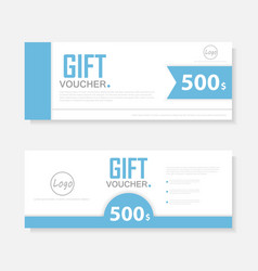 Gift voucher template layout template design vector