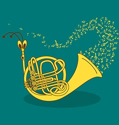With snail trumpet vector