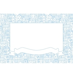 Frame with city pattern vector