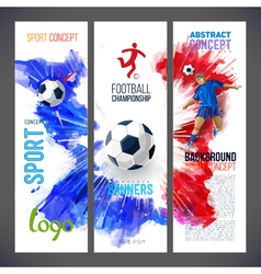 Football championship sports banners with soccer vector
