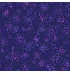 abstract flowers floral violet seamless background vector image
