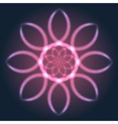 Abstract neon flower vector