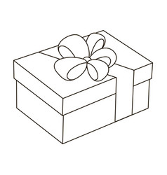 Blue gift for a holiday with an yellow bowgifts vector