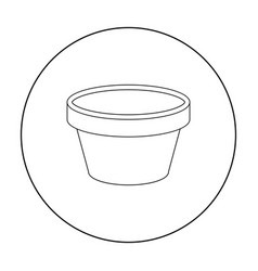 cap for tattoo ink icon outline single tattoo vector image vector image