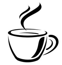 coffee cup sign vector image vector image