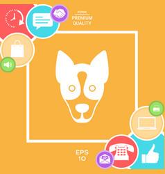 dog - logo symbol protect sign vector image