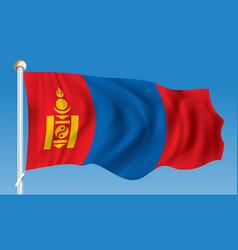 Flag of mongolia vector
