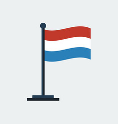 flag of netherlands flag stand vector image vector image