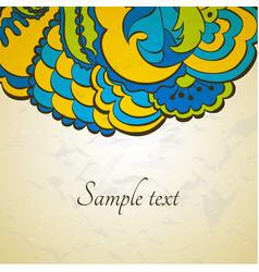 Flower ornamental card in eastern style vector