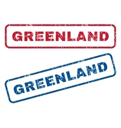 Greenland rubber stamps vector