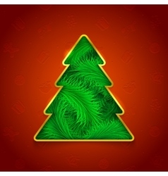 Holiday Christmas tree vector image vector image