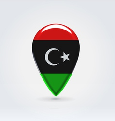 Libyan icon point for map vector image vector image