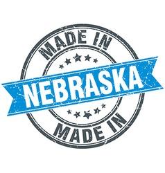 Made in nebraska blue round vintage stamp vector