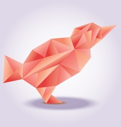 Red bird poly stylezed vector