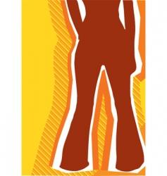 retro fashion background vector image vector image