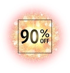 Sale banner 90 percents off vector