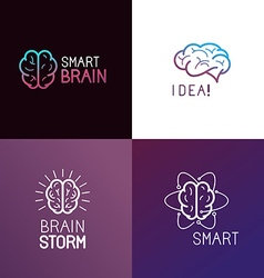set of logo design elements vector image vector image