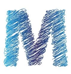 sketched letter M vector image