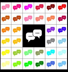 speech bubbles sign felt-pen 33 colorful vector image