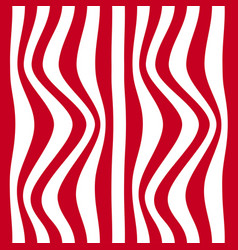 striped abstract background red and white zebra vector image vector image