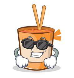 Super cool cup noodles character cartoon vector