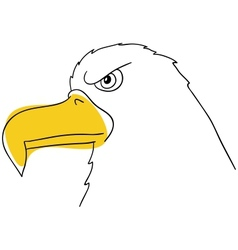 The eagle vector image vector image