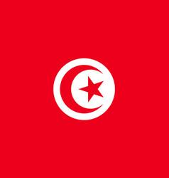 Tunisia flag flat vector