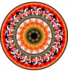 woven circle frame vector image vector image