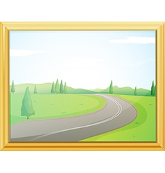 A frame of a road vector image