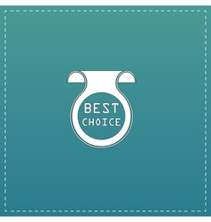 Bookmark with best choice message vector