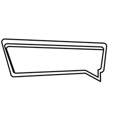 Silhouette rectangle speech with double contour vector