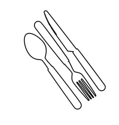 Set cutlery tools icons vector