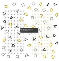 Cute small geometrical shapes background vector