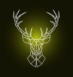 Geometric reindeer head ornamental stag head vector