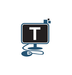 Digital technology initial t vector