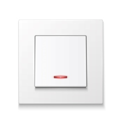 White wall switch with illumination vector