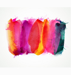 Purple lilac magenta and pink watercolor stains vector