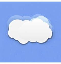 white clouds on blue background vector image