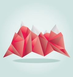 Red mounatain poly vector