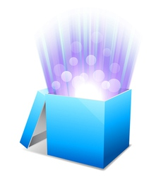 Glowing box vector