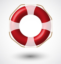Red life buoy vector