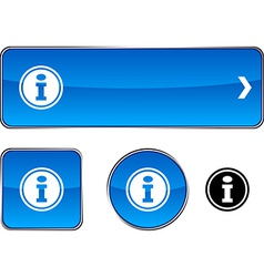 Info button set vector