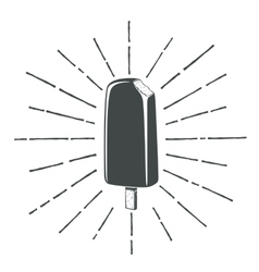 Simple vintage retro classic ice cream icon vector