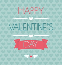 Card for valentines day typography vector