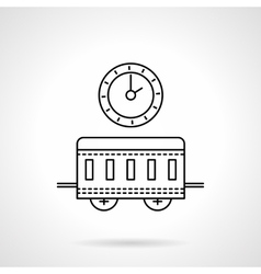 Time to travel flat line icon vector